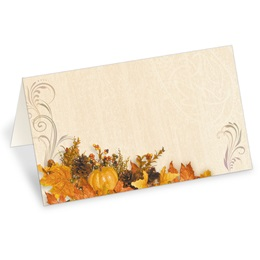Swirls of Autumn Folded Place Cards