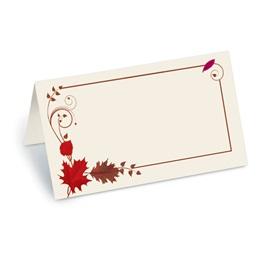Mahogany Rouge Folded Place Cards