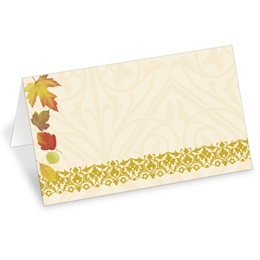 Fall Fancy Folded Place Cards