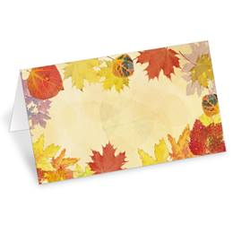 Translucent Leaves Folded Place Cards