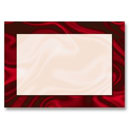 Red Silk Reception Cards