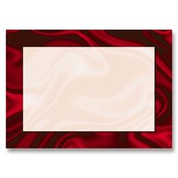 Red Silk Reception Cards
