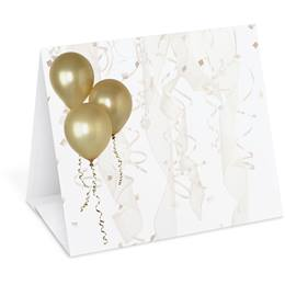 Gold Balloons Table Tents