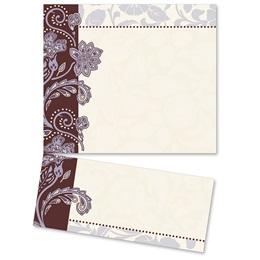 Lavender Brocade LetterTop Certificates