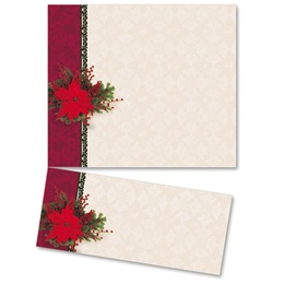 Pretty Poinsettia LetterTop Certificates