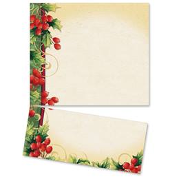 Holly Berry Swirls LetterTop Certificates