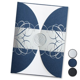 Intertwined Rounded Gatefold Invitations