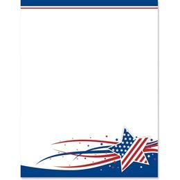 USA Star Border Paper