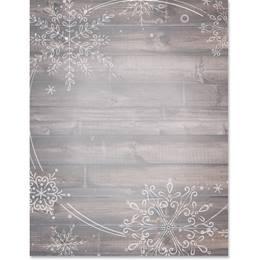 Pine Snowflake Border Papers