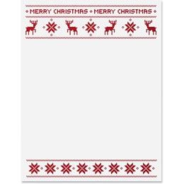 Reindeer Sweater Border Papers