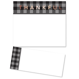 Black Plaid Thankful Lettertop Certificate