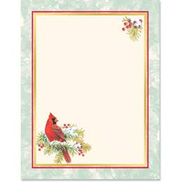 Cardinal Red Specialty Border Paper