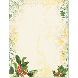 Prim Holly Specialty Border Paper