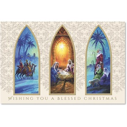 Christmas Triptych Boxed Holiday Greeting Cards