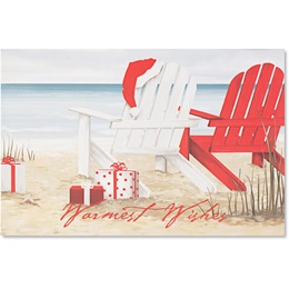 Beach Chairs Boxed Holiday Greeting Cards
