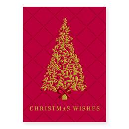Burgundy Tree Boxed Holiday Greeting Cards