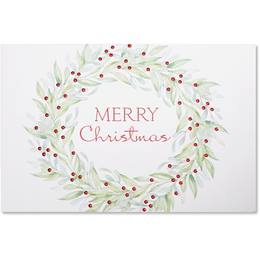 Simple Wreath Boxed Holiday Greeting Cards