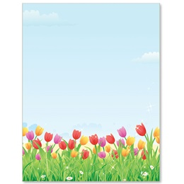Tulip Field Border Papers