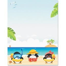 Penguin Beach Border Paper