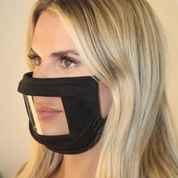 Face Mask with Anti-Fog Window