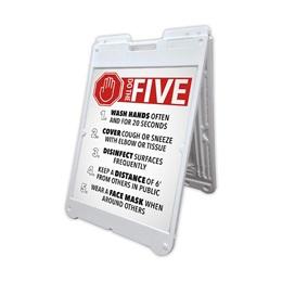 Do the 5/Health Tips A-Frame Sign