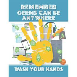Germs Can Be Anywhere Bathroom Decal