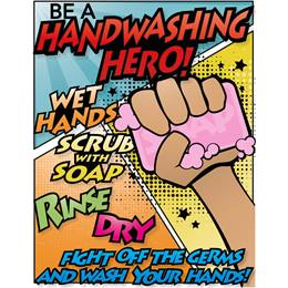 Handwashing Hero Bathroom Decal