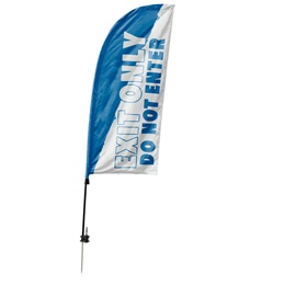 Custom Single-sided Blade Sail Flag - Exit Only