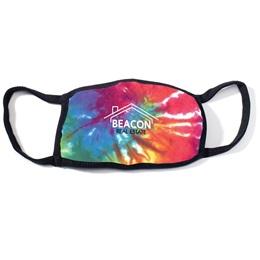 Tie-Dye Black Trim Face Mask