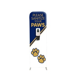 Sanitize Your Paws Floor Hand Sanitizing Station