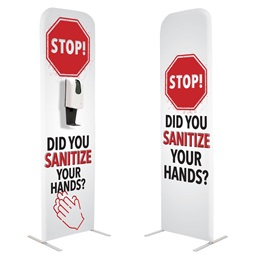 Stop! Did You Sanitize Your Hands? Floor Hand Sanitizing Station