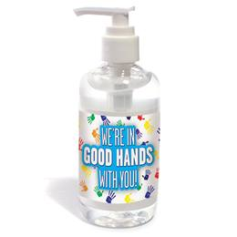 Hand Sanitizer Pump - We're in Good Hands with You!