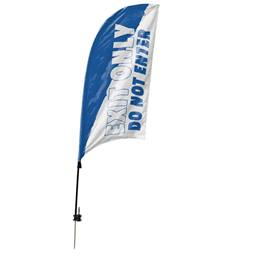 Custom Double-sided Razor Sail Flag - Exit Only