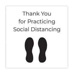Thank You for Practicing Social Distancing Floor Decal