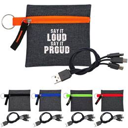 Tech Pouch with Charging Cable