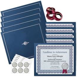 Traditional Blue Certificate Bundles