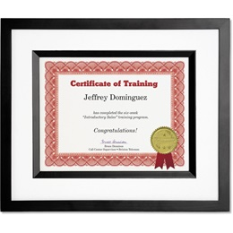 Silhouette Black Certificate Frames