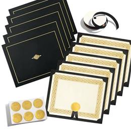 Traditional Gold Metallic Certificate Bundles
