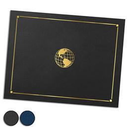 Globe Gold Foil-Stamped Certificate Jackets
