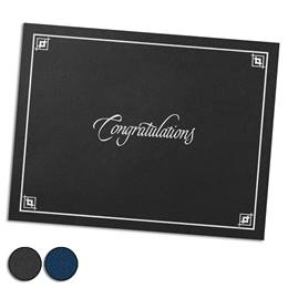 Congratulations Silver Foil-Stamped Certificate Jackets