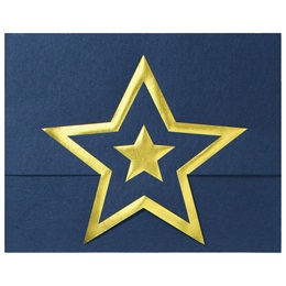 Star Gold Foil Stand-Up Certificate Jackets