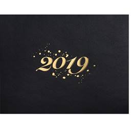2019 Gold Foil Specialty Certificate Jackets - Blue