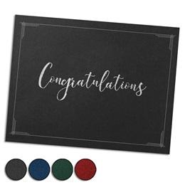 Congratulations Script Silver Foil-Stamped Certificate Jackets