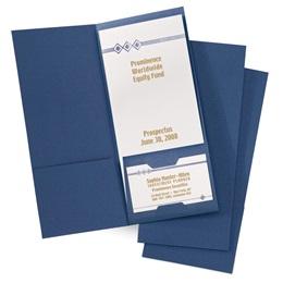 Linen-Textured Brochure Jackets