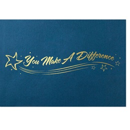 You Make A Difference Blue Foil Mini Award Jackets