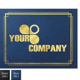 Custom Border Gold Foil Certificate Jackets