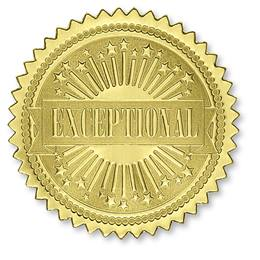 Exceptional Embossed Gold Foil Certificate Seals