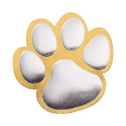 Gold and Silver Paw Foil Seal