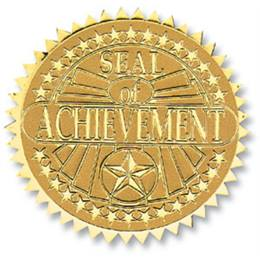 Achievement III Foil Embossed Certificate Seals