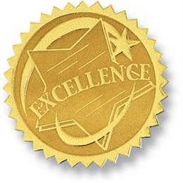 Excellence II Embossed Gold Foil Certificate Seals